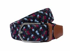 The Blenheim - Moorhen and Drake Mens Woven Belts, Drake, Color Mixing, The Man, Black And Grey, Colours, Stylish, Blue, Accessories