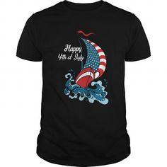 Sailing USA Flag Happy 4th of July best Tshirt
