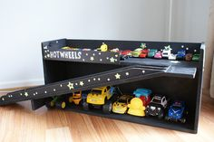 Toy car garage storage