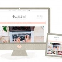 Modern, Feminine Wordpress Theme - The Meadowbrook by Angie Makes | angiemakes.com