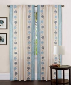 So cute and old-fashioned looking! Beige & Blue Annabelle Curtain Panel