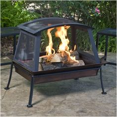 Steel Fireplace with Powdered Finish