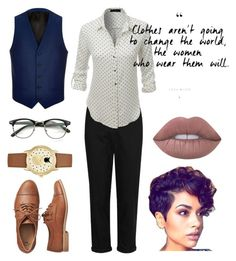 """Untitled #41"" by iristhestrange on Polyvore featuring Gap, River Island, LE3NO, Lime Crime and Jessica Carlyle"