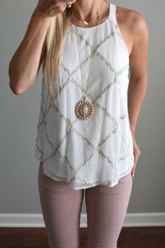 Stitch Fix Review July 2016: Market & Spruce Adron Embroidered Blouse  www.pearlsandsportsbras.com 