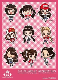 I'm in love with these snsd chibis <3