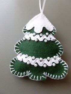 Resultado de imagem para detalles bonitos de navidad en fieltro