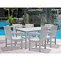 Take the party outside with this Bradley 7-piece outdoor dining set that provides a simple way to entertain guests during any season. Resistant to all types of weather, this acacia outdoor dining set