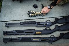 Salient Arms International Benelli Shotguns I'll take all three. Airsoft Guns, Weapons Guns, Guns And Ammo, Tactical Shotgun, Tactical Gear, Tactical Survival, Benelli Supernova, Salient Arms, Custom Guns