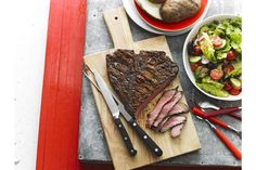 Grill a big juicy steak for four and serve it on a wooden board for sharing. It's like eating at a steak house! Sauce Barbecue, Bbq, Cooking Over Fire, Juicy Steak, Easy Meal Prep, Coffee Roasting, Steak Recipes, Main Meals, Yummy Food