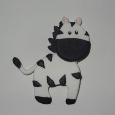 Cebra hecha en Masa Flexible. Animales de la Selva. Jungle Friends Polymer Clay