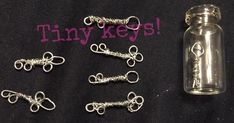 Mini Wire Keys  •  Free tutorial with pictures on how to make a charms in under 6 minutes