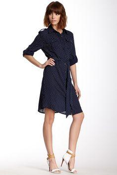 Polka Dot Shirt Dress by Freeway on @HauteLook