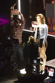 Katharine McPhee filming