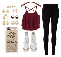 """""""No school!!!"""" by elisabeth2004 ❤ liked on Polyvore featuring Max Studio, Converse, Mudd and Casetify"""