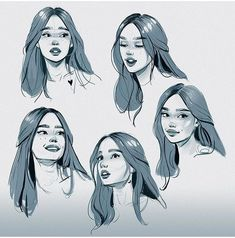 54 trendy ideas for art girl drawing character sketches faces 54 trendy ideas for art girl drawing character sketches faces Art Reference Poses, Drawing Reference, Art Sketches, Art Drawings, Tattoo Sketches, Cartoon Drawings, Poses References, Face Sketch, Drawing Faces