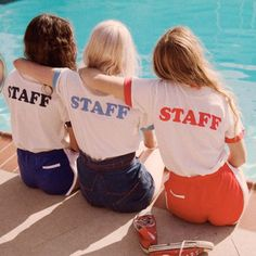 Camp Staff Ringer Tee (view more colors) Retro Tee Poses, Five Jeans, Mode Punk, Loona Kim Lip, 70s Inspired Fashion, Camping Aesthetic, Retro Aesthetic, Camp Counselor, Dalian