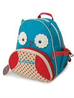 Ugle rygsæk til børn - Skip Hop med navn.