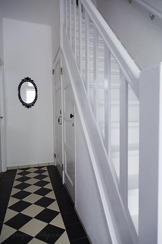 """White Painted Staircase--nothing says,  """"shoot me now, please"""" like a WHITE painted staircase"""
