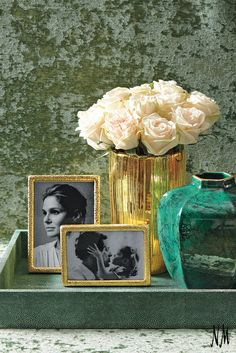 The emerald trend isn't just for jewelry. Add this gorgeous green vase by AERIN to your entryway and pair with gilded frames.