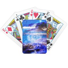 Sea of Serenity Bicycle Playing Cards