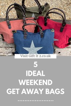 Hoping to get away soon? If you have a weekend away packing list, don't forget to add a large tote bag as these are ideal for short breaks and get away weekends. Visit Gift It 2 for a variety of cool canvas bags, perfect for overnight stays or also as part of gym outfit or gym bag. Whatever you think you might use yours for, it'll always be a must have purchase. #giftit2 Red Tote Bag, Clutch Bags, Tote Handbags, Leather Handbags, 18th Birthday Gifts For Girls, Birthday Gifts For Girlfriend, Thoughtful Gifts For Her, Gifts For Mum, Girls Accessories
