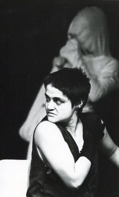 The haunted face of the terrified Emma played by Angelique Rockas in the Internationalist Theatre`s London premiere of  Griselda Gambaro`s `The Camp` performed by a multi-racial and multi-national cast. https://www.flickr.com/photos/internationalist_theatre_rockas/albums/72157628011069680  https://en.wikipedia.org/wiki/Internationalist_Theatre https://flic.kr/p/aFbk29