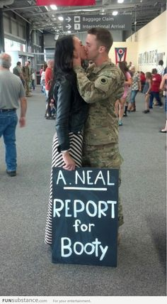 military homecoming.. I probably wouldn't do this, but love it!