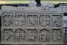 Sarcófago de Junio Basso, Roma, Museo de la Basílica de San Pedro del Vaticano. Año 359