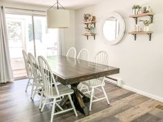 Raised Ranch Dining Room Makeover - Just Call Me Homegirl Dining Room Clock, Dining Room Shelves, Dining Room Wall Decor, Teen Room Decor, Dining Room Furniture, Kitchen Shelves, Beautiful Dining Rooms, Beautiful Bedrooms, Baby Halloween