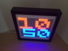 "Here is a small personal project to brighten my home made from a cheap IKEA photo frame, and Arduino and a multicolor ""NeoPixel"" LEDs strip."