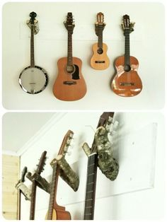 Gitarren Halterung aus Ästen Diy Furniture, Diy And Crafts, Music Instruments, Guitar, Cave, Interiors, Ideas, Guitars, Dad Birthday Presents