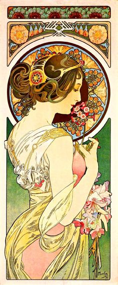 https://flic.kr/p/tZ1592 | La Primevere (1899) | Primrose by Alfons Mucha (1899) Printed on vellum paper  From the Swallowtail Garden Seeds collection of botanical photographs, illustrations, and paintings.  We hope you will enjoy these images as much as we do.