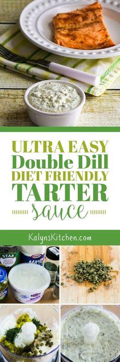 Ultra-Easy Double-Dill Diet Friendly Tartar Sauce found on KalynsKitchen.com