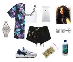 """""""Untitled #36"""" by swagg-girlie3 ❤ liked on Polyvore featuring NIKE, BERRICLE, Topshop, PacSun, Michael Kors, NLY Accessories and xO Design"""