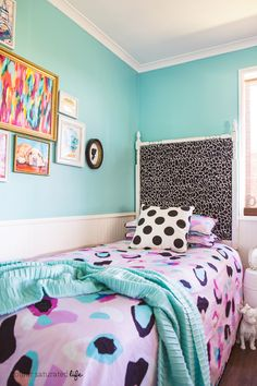 Colour Saturated Life | DIY Upholstered Bedhead Tutorial
