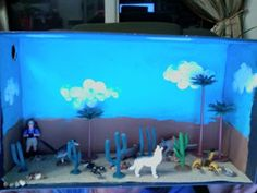 Day Of The Diorama: making a diorama for a school ecosystem project on deserts. 5th Grade Science Projects, Craft Projects For Kids, School Projects, Projects To Try, Project Ideas, Diorama Example, Desert Biome, Desert Ecosystem, Desert Diorama