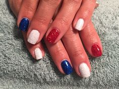 Independence Day nails  Shellac  Www.thebestnailsinkansascity.com
