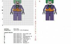 Lego The Joker esquema punto de cruz