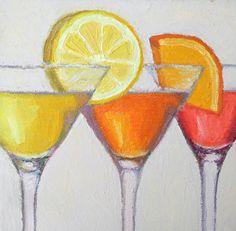 "Cheers! by Pat Doherty Oil ~ 8"" x 8"""