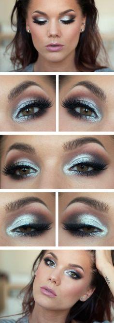 líčení hnědé oči