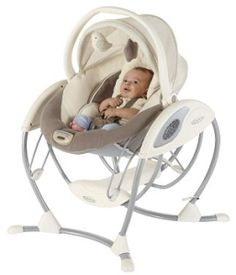 Graco 2-in-1 Glider Elite Swing Lucie's List: Blog - http://www.lucieslist.com - A survival guide for new moms The Graco Soothing Systems Glider