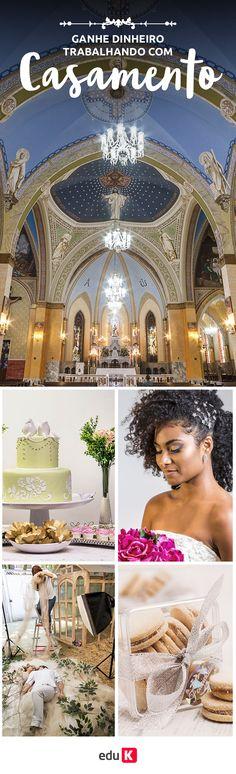Que tal aprender como organizar um casamento, a maquiar e fazer o cabelo de uma noiva, a fazer a fotografia desse momento especial e e fazer o buffet da festa? Faça nossos cursos e saiba como investir nesse negócio ;)