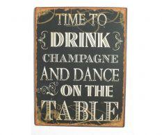 condecoro Schild - dance on the table - Shabby Chic Blechschild Wandbild Deko Wandobjekt Chalkboard Quotes, Art Quotes, Champagne, Shabby Chic, Dance, Lettering, Inspiration, Drinks, Template