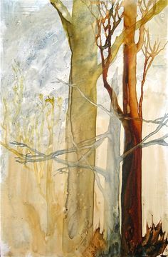 Ghost Trees- an original watercolor painting