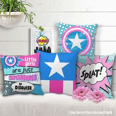 Comic Book Pillows G