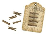 Metal Clothespin Staples from our new Graphic 45 Staples! Decoupage, Graphic 45, Amazon Art, Paper Cards, Sewing Stores, Diy Projects To Try, Altered Art, Sewing Crafts, Clothespins