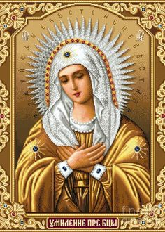 Blessed Mother Mary, Blessed Virgin Mary, Religious Icons, Religious Art, Embroidery Kits, Cross Stitch Embroidery, Beaded Embroidery, Immaculée Conception, Religion