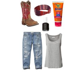 A fashion look from February 2015 featuring Jacqueline De Yong tops, Abercrombie & Fitch jeans and Ariat boots. Browse and shop related looks.