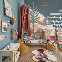 The Scene Abstract Wallpaper Mural Little Girls Room Abstract Mural Scene Wallpaper Baby Bedroom, Nursery Room, Boy Room, Kids Bedroom, Bedroom Murals, Kids Room Murals, Murals For Walls, Playroom Mural, Nursery Wall Murals