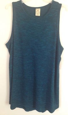 2a9d9369c17a2 NWT Faded Glory Women s Knit Stretchy Rib Tank Top Sleeveless Blouse Tee XL